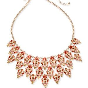 INC Multi-Crystal Triple-Row Statement Necklace